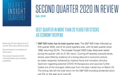 Market Insight Quarterly  Second Quarter 2020   July 21, 2020