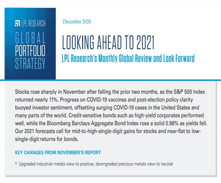 Global Portfolio Strategy | December 9, 2020